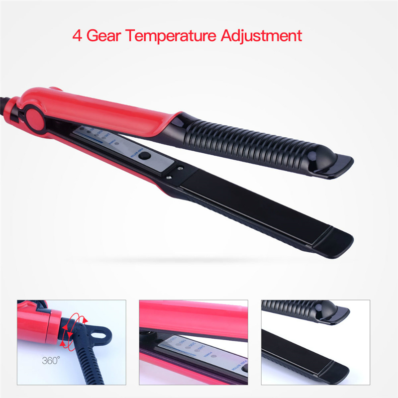2in1 Professional Dry&Wet Flat Iron Hair Straighteners Curler Corrugated Crimper Waves Straightening Curling Iron Styling Tool47