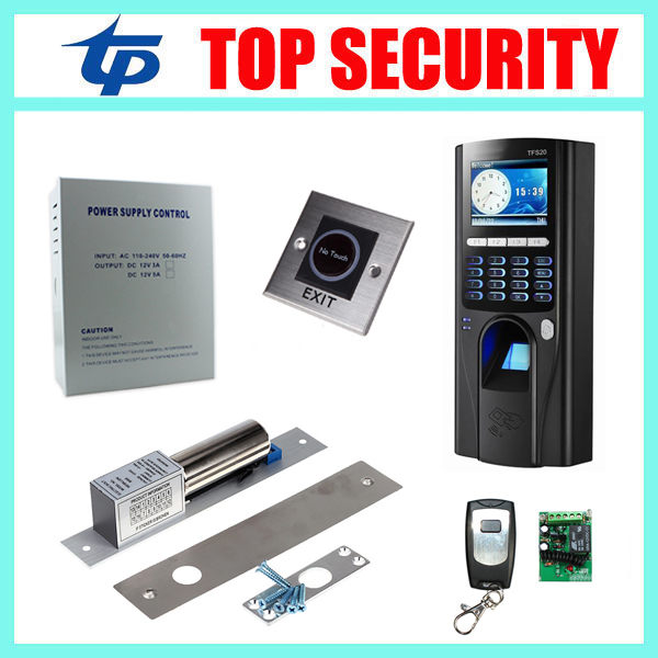 TCP/IP USB color screen fingerprint door access controller with RFID card reader DIY door security opener access control system
