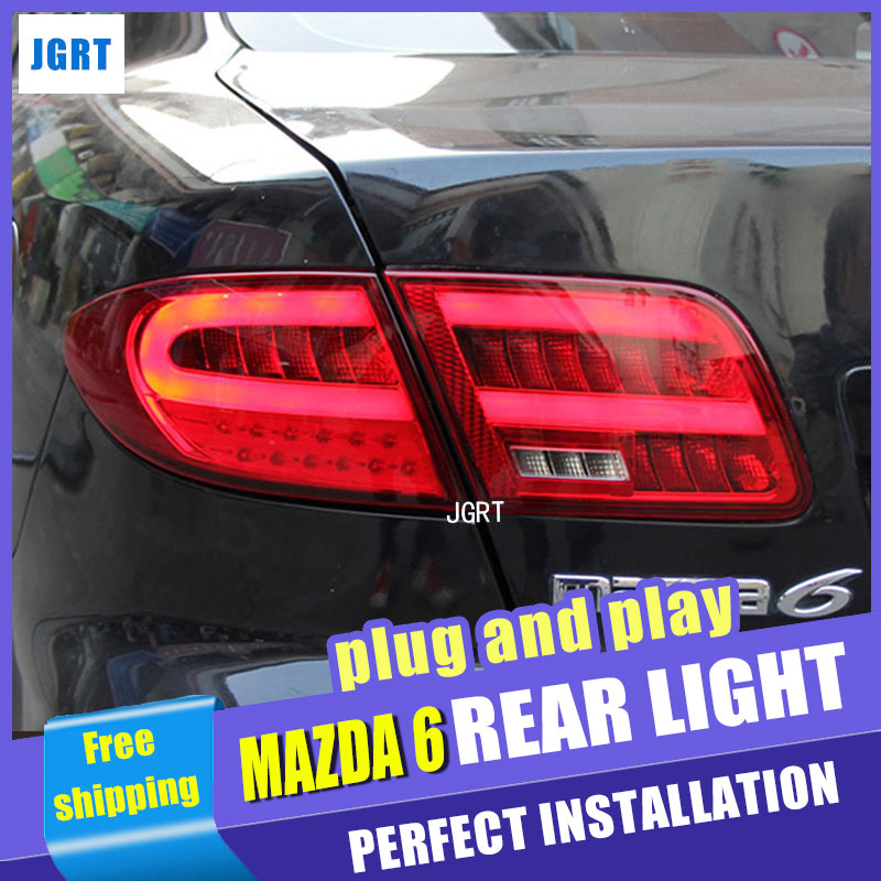 Car Styling for Mazda 6 LED Taillights 2004-2013 Mazda6 Tail Light Rear Lamp DRL+Brake+Park+Signal швейная машинка astralux dc 8373