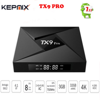 10PCS TX9 Pro TV Box Amlogic S912 Octa core CPU Android 7.1 OS Bluetooth 4.1 3GB /32G Android tv box set top box