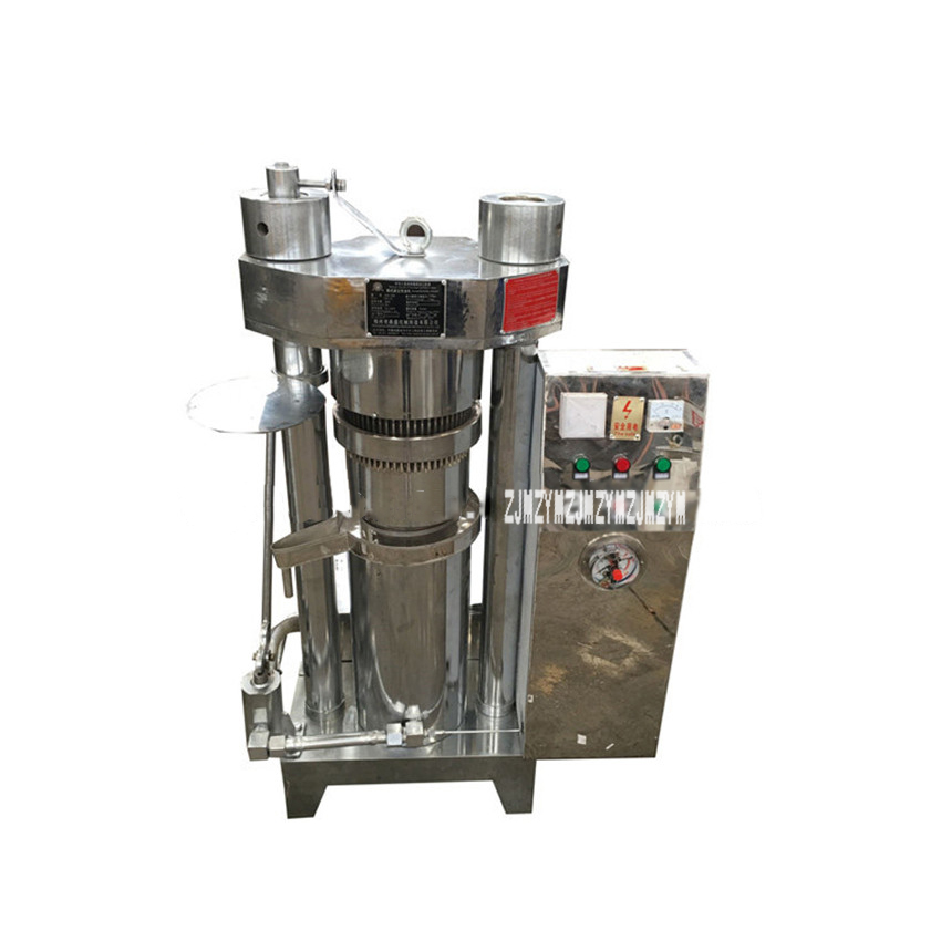 30kg/h Automatic Heating Hydraulic Oil Press Machine Cocoa Beans Walnut Sesame Olives Sunflower Seed Oil Maker 6ZL-180 220V/380V 1