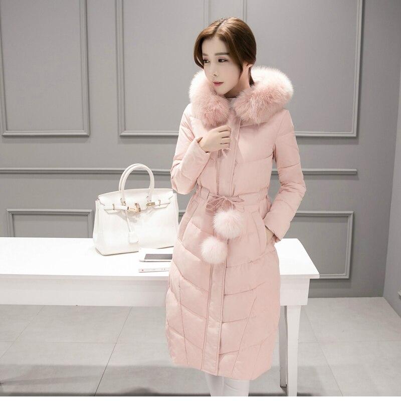 Longs Parkas 2018 Taille Vêtements Luxe Veste Femmes 3 1 De Plus Mince Col Fourrure 4 La Version Mode Manteaux Coton 2 Coréenne Grand Manteau p7wapqrY