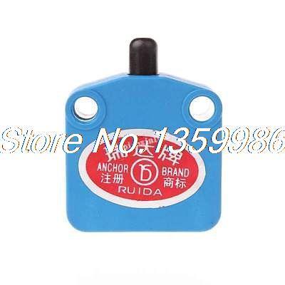 цена на 10pcs AC 380V 15A Black Button Actuator SPDT Momentary Micro Switch Blue