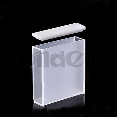 40mm JGS1 Quartz Cuvette Cell With Telfon Lid For Uv Spectrophotometers ...