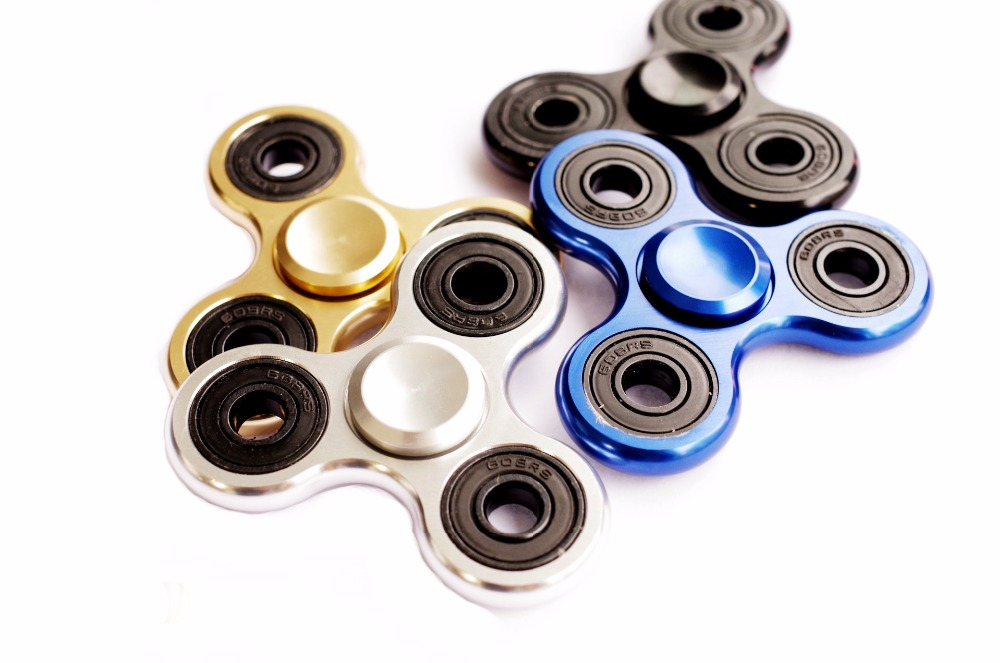 5 colors Fidget Spinner Hand Spinner Desk Finger Spin Spinning Top EDC Sensory Aluminum alloy Toy
