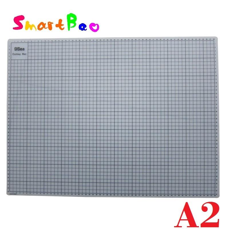 все цены на A2 Translucent Cutting Mat With Grid Lines Gridded Cutting Mat Esteira de Corte 60x45cm онлайн