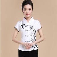 Traditional Chinese women shirt Women blouse Summer tops Embroidery Tang shirt