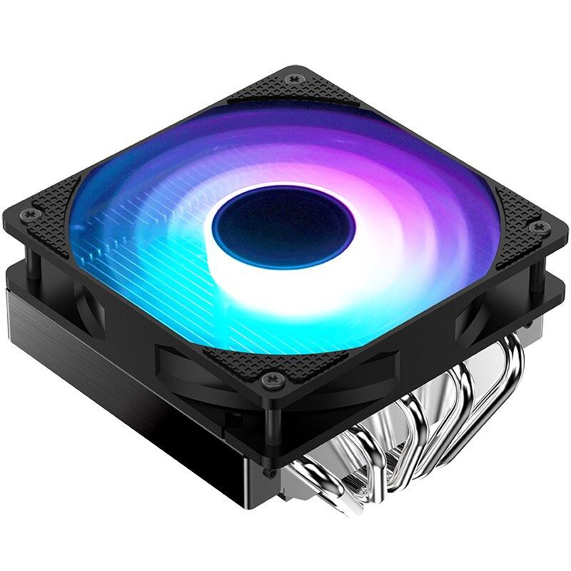 JONSBO CR-701 CPU Radiator Lower pressure type 5 Heat Pipe 12CM LED Llight Effect FAN. jonsbo cr 101 desktop pc heat pipe cpu radiator light led fan