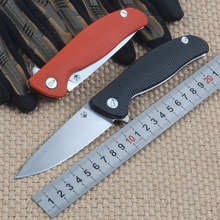 New two color black and orange 95 D2 blade  G10 handle tactical folding knife hunting camping outdoors knife EDC hand tools