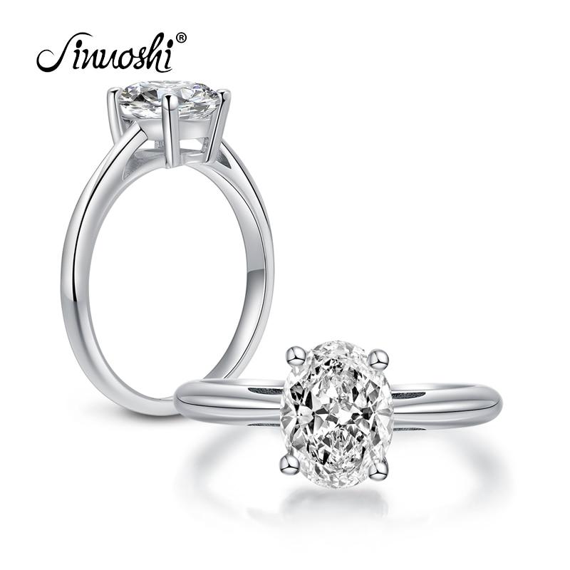 Γυναικείο δαχτυλίδι αρραβώνων δαχτυλίδι 2 καρατίων Οβάλ δαχτυλίδι Γυναικείο 100% 925 Sterling Silver Sona Rings anillo de mujeres