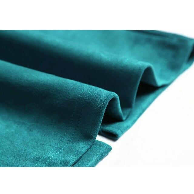 Sainishi Super Deals Women Suede Solid Color Pencil Skirt Female Spring Autumn Basic High Waist Bodycon Split Knee Length Skirts 5