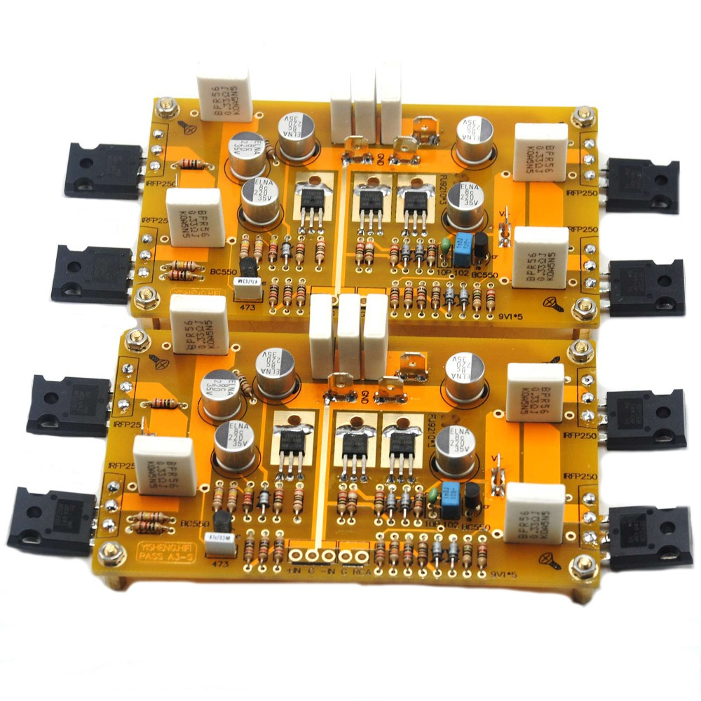 One pair Ver 2.0 single-ended PASS A3 Class A amplifier kit 30W 30W amp DIY