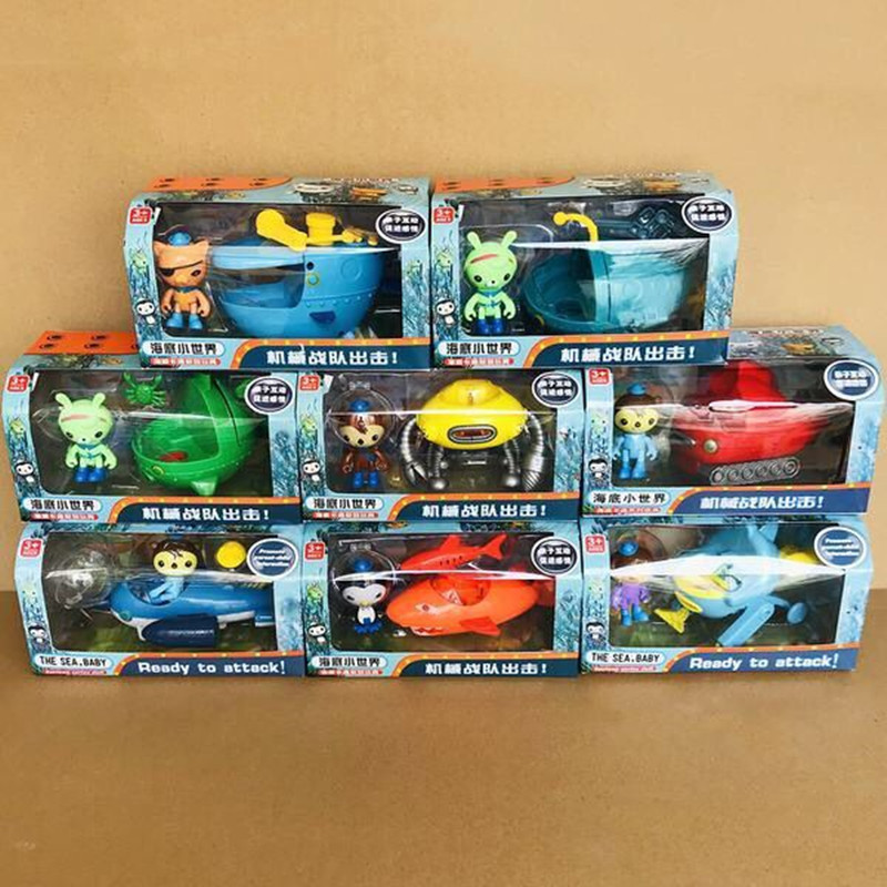 Model-Toys Dolls Action-Figure-Toy Peso Captain Movie Octonauts Cartoon Gift Kwazii The
