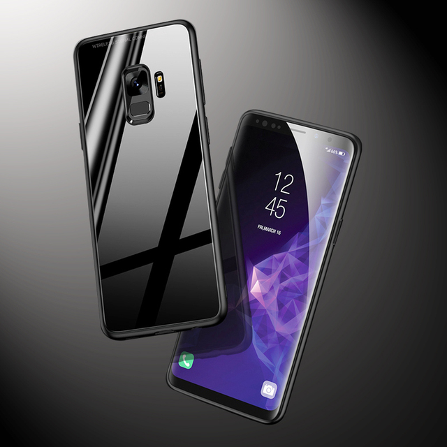 Luxur A8 2018 Case Tempered Glass Cover For Samsung Plus 2018 Case Silm Soft Edge Protection Phone Cover For Galaxy A6 Plus 2018