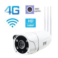 1080P 4G WiFI IP Camera Wireless Outdoor Sim Card GSM Bullet Security Camera IR Night Vision Surveillance Support SD Card Onvif