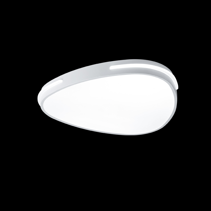 Modern White Led Ceiling Lamp With Remote Control Acrylic Light Fixtures Living Room Bedroom Kitchen Lustre Decor Home Lighting bedroom living room light lustre modern led ceiling lamp with remote control white black metal decor home lighting fixtures 220v