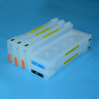 700 ml de Recarga de cartuchos de tinta de Impressora Para Epson Stylus pro 9700 7700 7710 9710 T5961-T5964 T5968 cartucho de tinta Com O chip resertter
