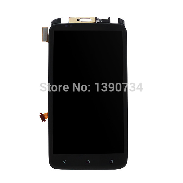 High quality Tested working lcd display touch screen digitizer assembly with Frame for HTC One X G23 S720e phone replacement high quality silver for htc one m7 lcd display touch digitizer screen frame back door battery cover case housing