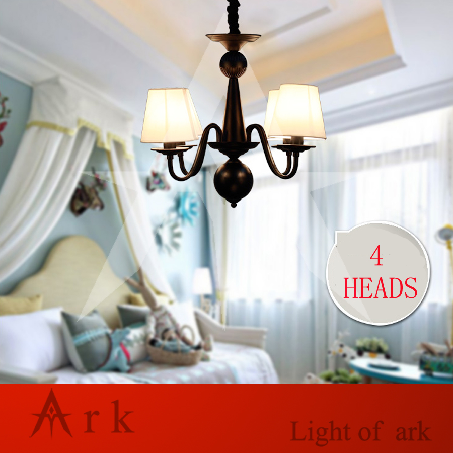 ARK LIGHT iron rural Nordic restaurant bedroom led 4 heads European-style led chandelier American country rural living room lamp korean princess wrought lamp iron bedroom led lamp american pastoral style living room children chandelier
