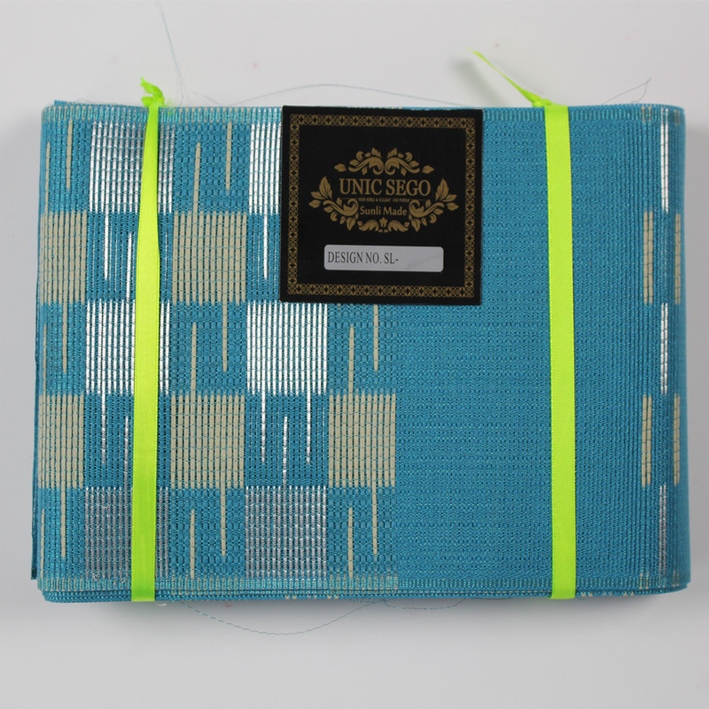 AS 1418 Hot selling african aso oke headtie gele Wrapper Ipele 1 pc set Many Colors Available TURQUOISE BLUE in Africa Clothing from Novelty Special Use