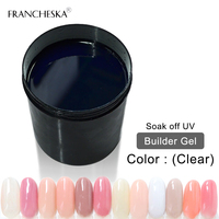 Builder gel 1KG UV Gel Builder Finger Nail Extension jelly builder quickly transparent clear pink white camouflage Nail Polish