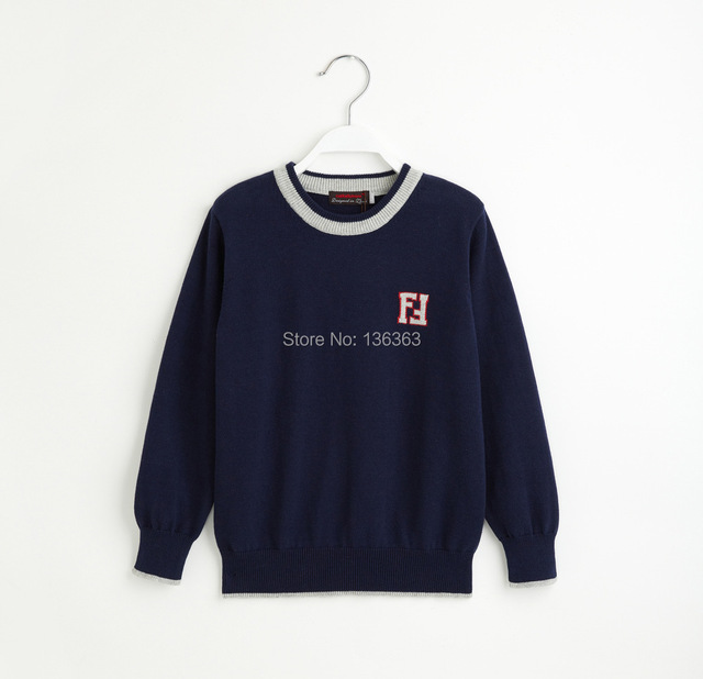 pullover boy Catimini   2014 autumn Catimini boy long sleeve Cotton knitted sweater sweaters boy brand  red and navy