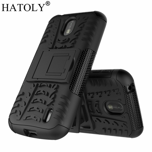 premium selection f6ab5 3494e HATOLY For Cover Nokia 1 Case Armor Silicone Rugged Hard Plastic ...