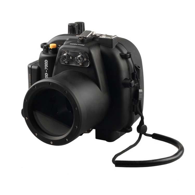 Étanche Caméra Sous-Marine Boîtier Logement Cas pour Canon 650D 700D 18-55mm Rebelles T4i T5i Lentille Meikon