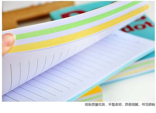 Delicious Dot Rainbow Inner Pages Cute Daily Memo Notebook Candy