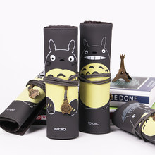 My Neighbor Totoro PU Leather Makeup Brushes Bag Cosmetics Case Brushes Protect Pouch Storage Bag Gift(China)