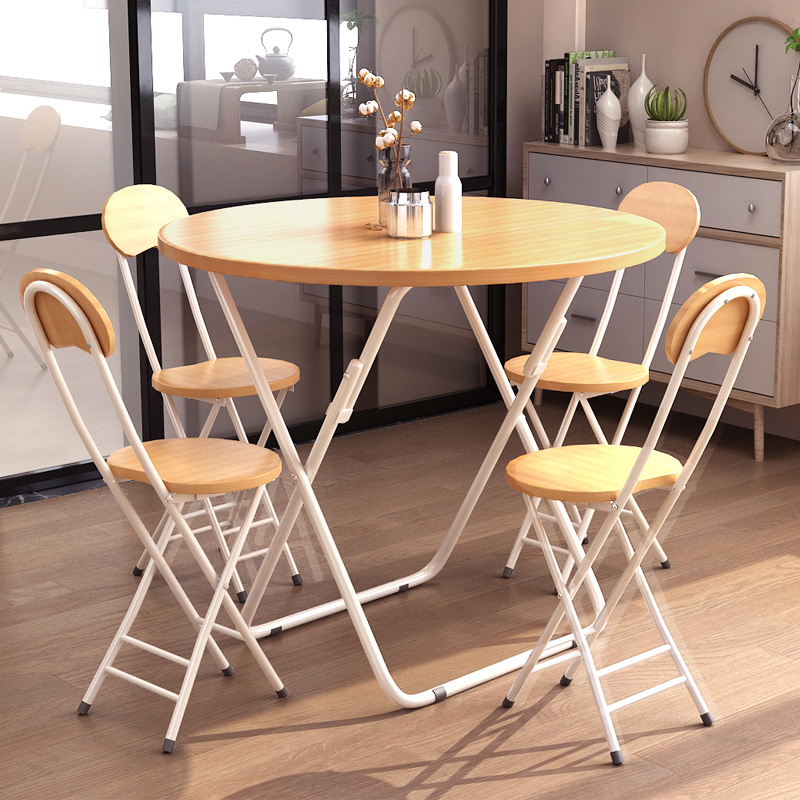 Eating Tables: Folding Table Dining Table Home Small Apartment Round