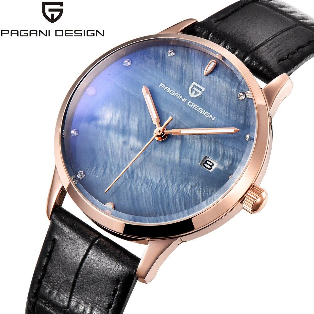 Pagani Design Top marque montre de luxe femmes mode Simple pointeur étanche Quartz-montre bracelet en cuir femme montre-bracelet horloge