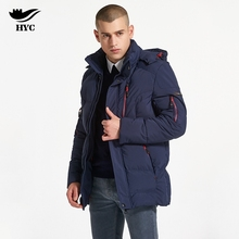 HAI YU CHENG Winter Coat Male Puffer Jacket Fashion Parka Men Plus Size Moto Jacket Windproof Trench Mens Windbreaker Hot Sale