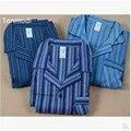 Pantalones Para Hombre del Pijama Conjunto de Salón de la ropa 100% Algodón Flannelet ropa de Dormir En Casa de La Raya Ropa de Ocio