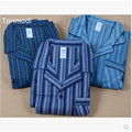 Sleepwear Lounge Pants Mens Pajama Set 100% Cotton Flannelet Stripe Sleepwear At Home Leisure Clothing