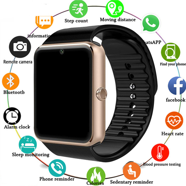 2019 Smartwatch GT08 חכם שעון נשים גברים Relogio שיחת טלפון גדול סוללה SD כרטיס מגע ScreenFor Xiaomi Huawei iPhone שעון