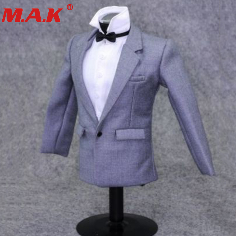 1:6 scale gray suit set clothing accessories models fit for 12 action figure male man nude body model toys 1:6 scale gray suit set clothing accessories models fit for 12 action figure male man nude body model toys