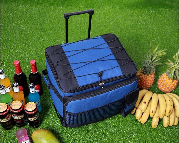 Haute qualité grand sac isotherme thermo déjeuner pique-nique boîte à glace fruits lait frais fraîcheur trolley sacs