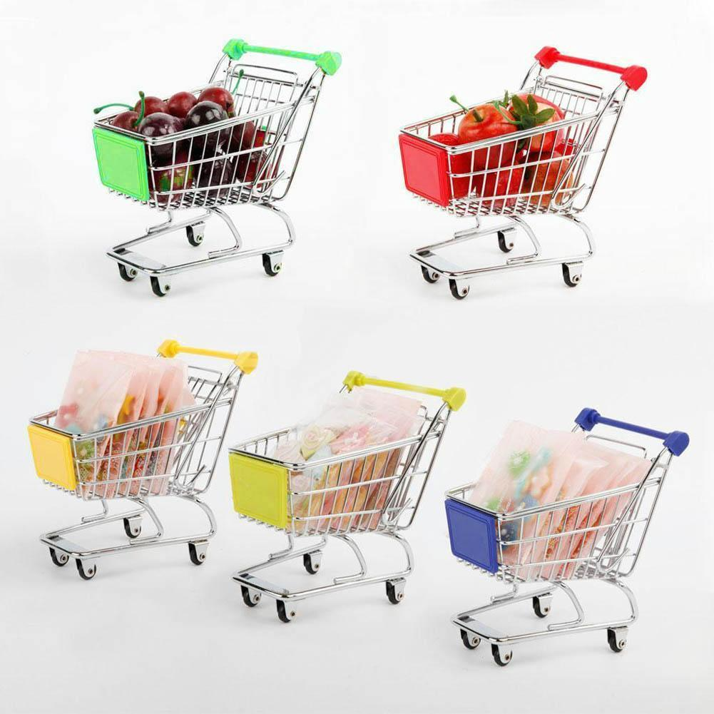 Cute Mini Shopping Handcart Cart Supermarket Utility Mode Storage Gifts Toys