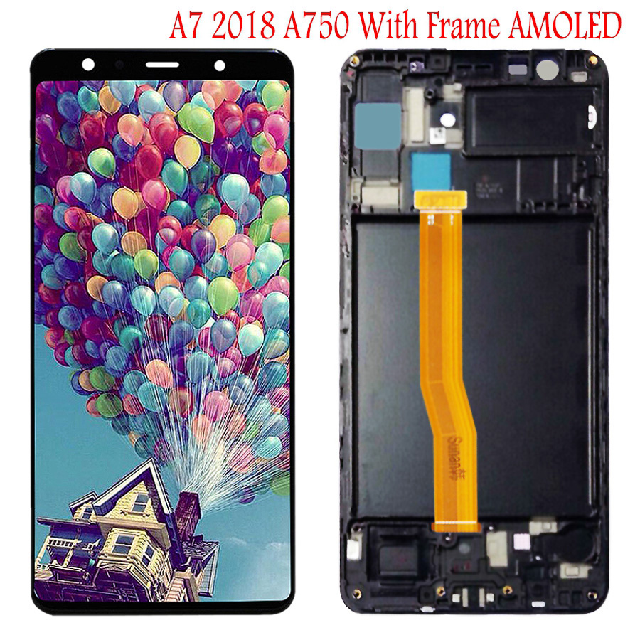 """Image 2 - 6.0""""For SAMSUNG GALAXY A7 2018 LCD A750 A750F SM A750F Display Touch Screen Digitizer Assembly Replacement For SAMSUNG A750 LCD-in Mobile Phone LCD Screens from Cellphones & Telecommunications"""