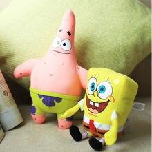 17-22cm Six In One Lot Cartoon Sponge Soft Toys Bob Patrick Stuffed Plush For Childrens Day Gift Room Decoration