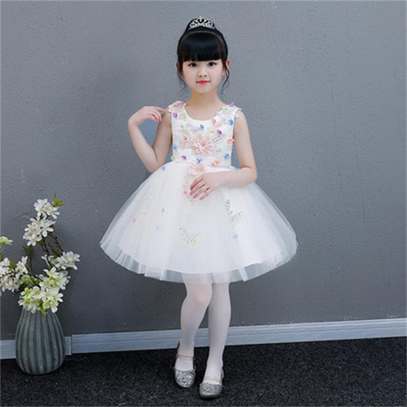 High quality children's dress princess dress girls school costumes flower girl birthday piano tutu big children performance clot
