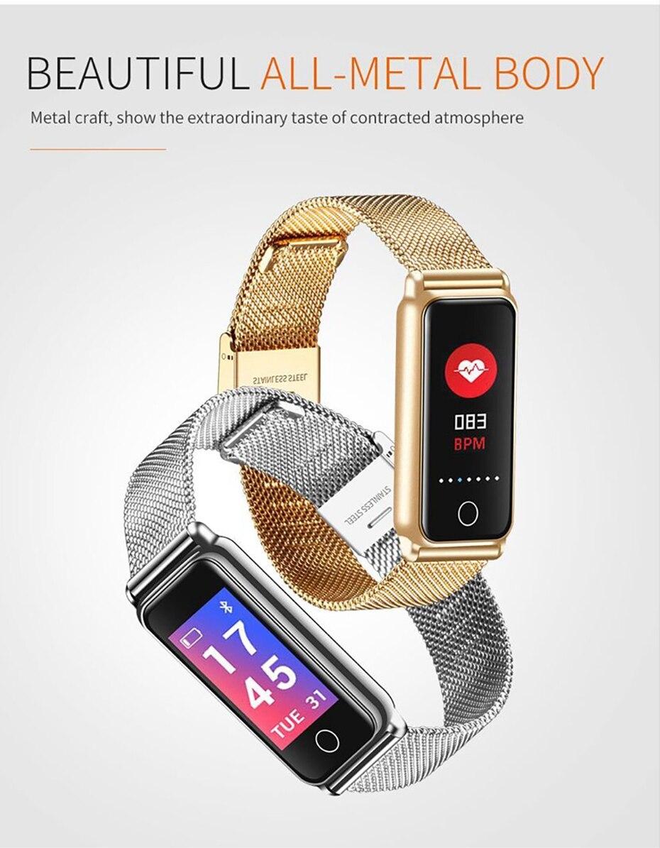 Y8 Smart Watch Stainless Steel Women Sports Touch Screen Health Bracelet Ons Men Fitness Bracelet for Measuring Pressure Fitness 2018 2019 (4)
