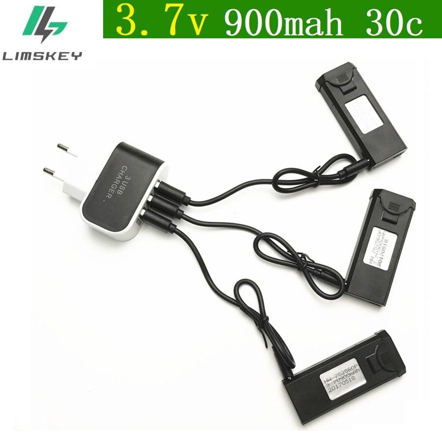 4 unids/set Original de 3,7 V 900 mAh 30C Lipo batería accesorio para viso XS809 XS809W XS809HW xs809s batería nueva 752560 P envío gratis