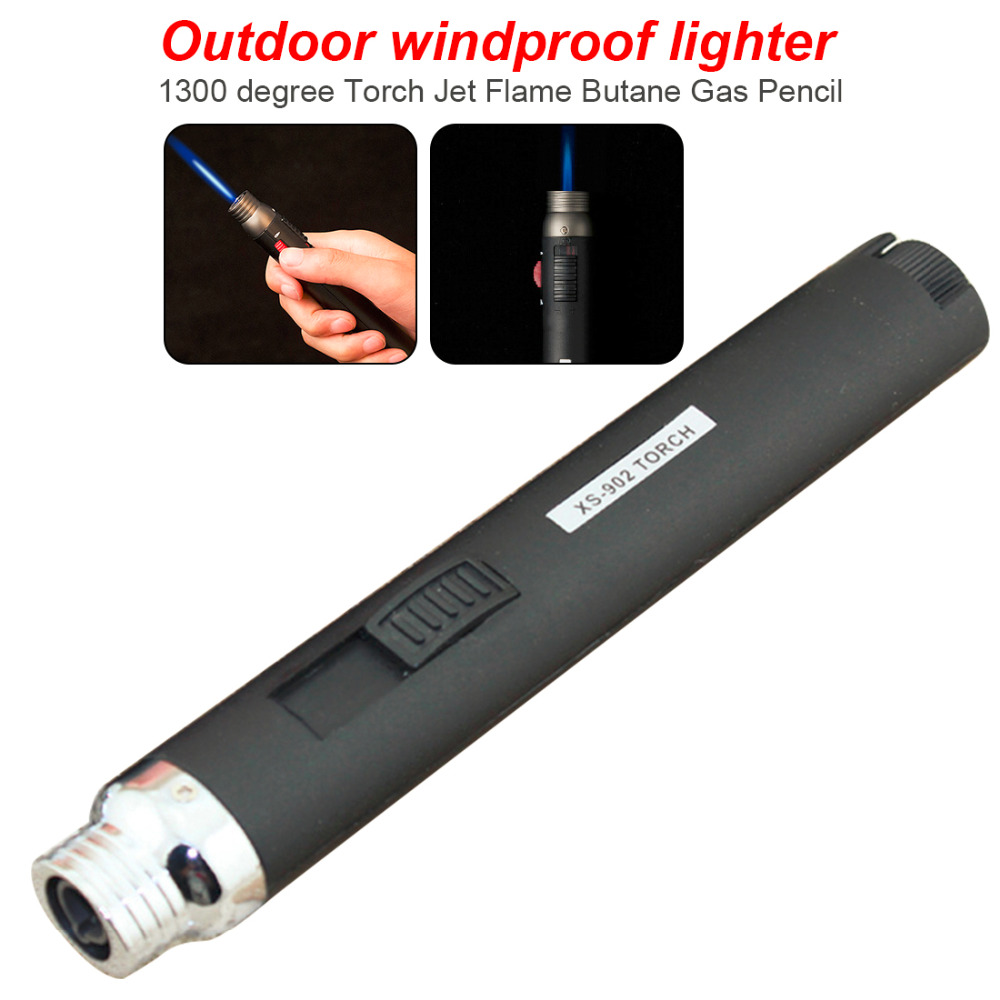 New Outdoor Lighter Jet Flame Butane Gas Refill Lighter Welding Soldering Torch Pen