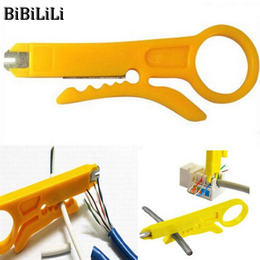 Cable Edicated Stripping Stripping Multi-function Stripping Pliers Yellow Network Clamp Knife CableCable Edicated Stripping Stripping Multi-function Stripping Pliers Yellow Network Clamp Knife Cable