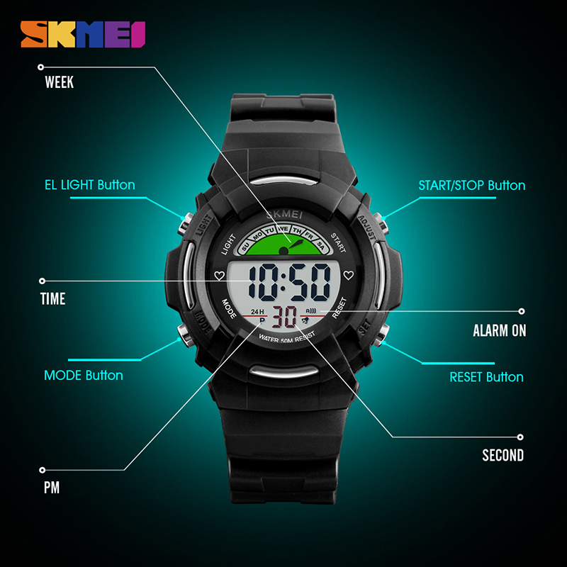 Back To Search Resultswatches Fashion Children Kids Digital Electronic Wristwatch Students Boys Girls Waterproof Sports Wrist Watch El Light Alarm Stopwatch