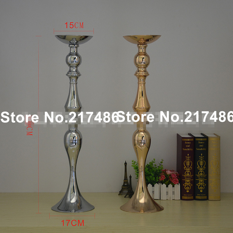 80cm Tall Wedding Flower Vase Metal Trumpet Vase For: New Style Tall And Large Gold Metal Trumpet Vase For