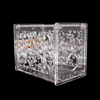 1PC AMPLIFIER CHASSIS CASE Transparent Acrylic Enclosure Box for FU32 Vacuum Tube Amplifier Preamp Vintage Audio DIY Project