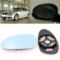 Dla BMW serii 6 630 650i 2004-2016 widok z boku drzwi lustro niebieskie szkło z podstawą podgrzewane 1 para